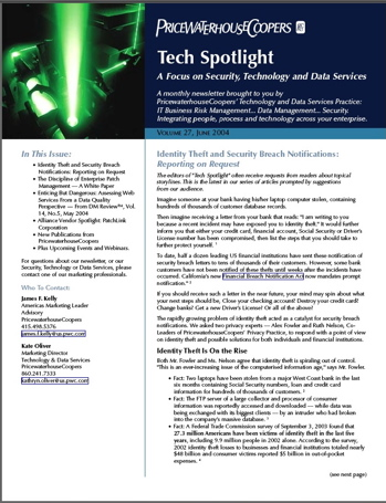 PwC Tech Spotlight Newsletter